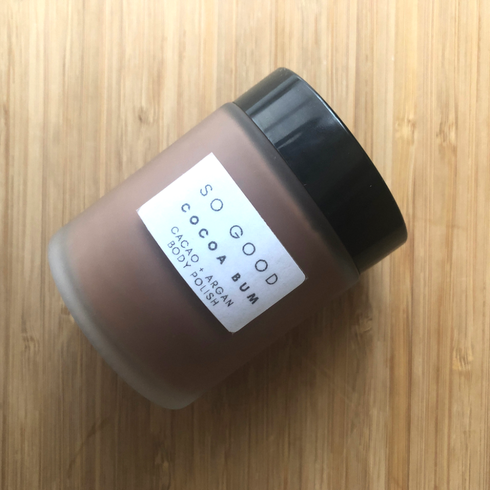 Cocoa Bum Organic Body Polish for Dry and Mature Skin by So Good Botanicals