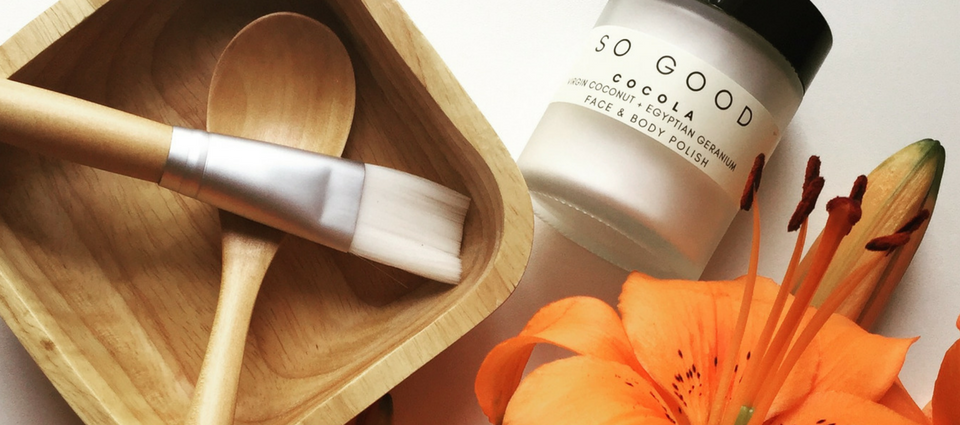 Cocola by So Good Botanicals: Face + Body Polish Great for all skin types, helps unclog pores