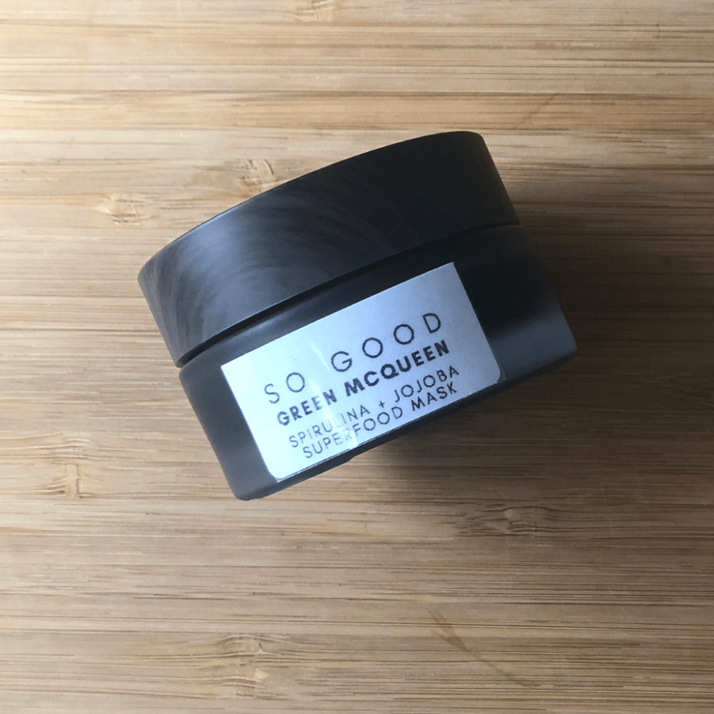 Green McQueen Organic Face Mask by So Good Botanicals made with Raw Honey and Raw Spirulina