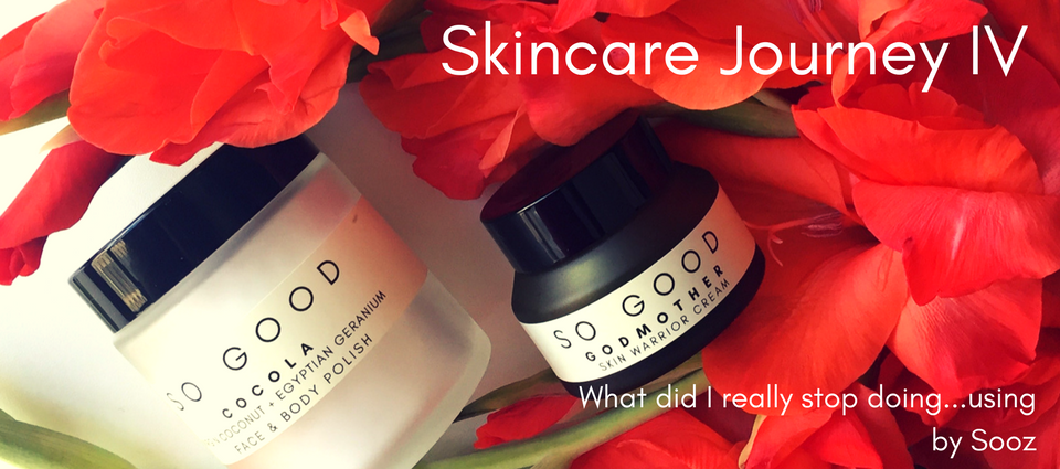 Skincare Journey IV by So Good Botanicals - What did I stop using and doing
